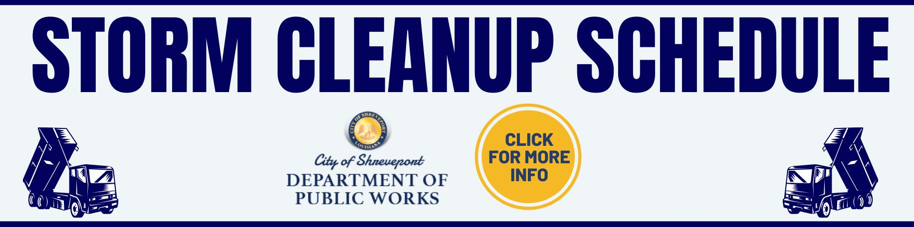 Storm Cleanup  Dates