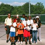 Tennis class group photo