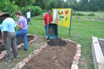 Valencia Community Garden Fall Planting Day 2012