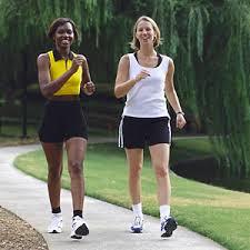Ladies Walking for exercise